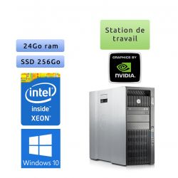 HP Workstation Z820 - Windows 10 - E5-2643 24Go 256Go SSD - K4000 - Ordinateur Tour Workstation PC