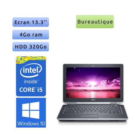 Dell Latitude E6330 - Windows 10 - i5 4Go 320Go - 13.3 - Webcam - Grade B - Ordinateur Portable PC