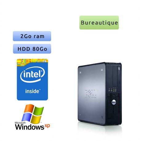 Dell Optiplex 760 - Windows XP - 2.8Ghz 2Go 80Go - Ordinateur Tour Bureautique PC