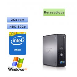 Dell Optiplex 780 SFF - Windows XP - 3.2Ghz 2Go 80Go - Ordinateur Tour Bureautique PC