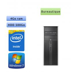 Hp 8200 Elite CMT - Windows 7 - G630 4GB 500GB - PC Tour Bureautique Ordinateur