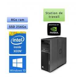 HP Workstation Z640 - Windows 10 - E5-2620 v3 8Go 256Go SSD - NVS 510 - Ordinateur Tour Workstation