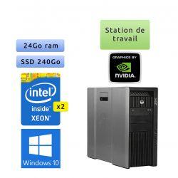HP Workstation Z800 - Windows 10 - 2*X5650 24Go 240Go SSD - Quadro 4000 - Ordinateur Tour Workstation