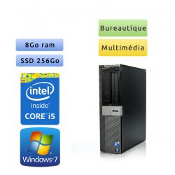 Dell Optiplex 980 DT - Windows 7 - i5 8Go 256Go SSD - Ordinateur Tour Bureautique PC