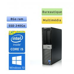 Dell Optiplex 980 DT - Windows 10 - i5 8Go 240Go SSD - Ordinateur Tour Bureautique PC