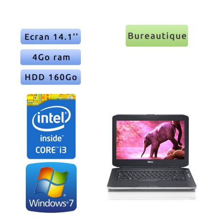 Dell Latitude E5430 - Windows 7 - i3 4Go 160Go - 14.1 - Webcam - Ordinateur Portable PC