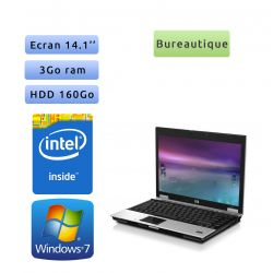 HP EliteBook 6930p - Windows 7 - 2.4Ghz 3Go 160Go - 14.1 - Ordinateur Portable PC