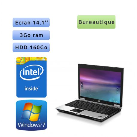 HP EliteBook 6930p - Windows 7 - 2.4Ghz 3Go 160Go - 14.1 - Ordinateur Portable PC