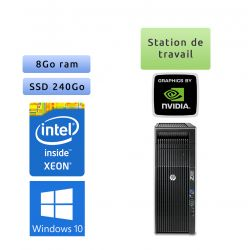 HP Workstation Z620 - Windows 10 - E5-2609 v0 8Go 240Go SSD - Quadro 2000 - Ordinateur Tour Workstation