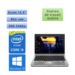 Hp EliteBook 2560p - Windows 10 - i5 8Go 256Go SSD - 12.5 - Station de Travail Mobile PC Ordinateur