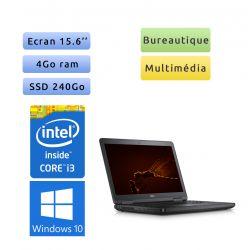 Dell Latitude E5540 - Windows 10 - i3 4Go 240Go SSD - 15.6 - Webcam - Ordinateur Portable PC