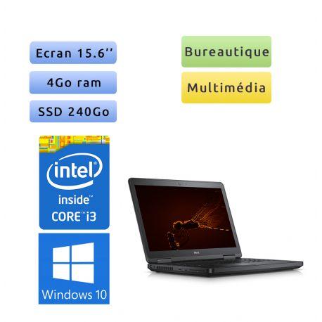 Dell Latitude E5540 - Windows 10 - i3 4Go 240Go SSD - 15.6 - Webcam - Ordinateu Portable PC