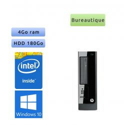 Hp Pro 3300 Series SFF - Windows 10 - 2.8Ghz 4Go 180Go - Ordinateur Tour Bureatique PC