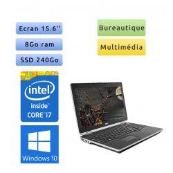 Dell Latitude E6530 - Windows 10 - i7 8Go 240Go SSD - 15.6 - Webcam - Ordinateur Portable PC