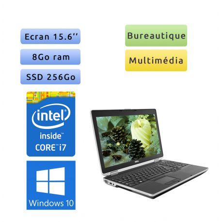 Dell Latitude E6530 - Windows 10 - i7 8Go 256Go SSD - 15.6 - Webcam - Ordinateur Portable PC