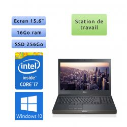 Dell Precision M4600 - Windows 10 - i7 16Go 256Go SSD - 15.6 - Webcam - Station de Travail Mobile