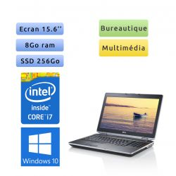 Dell Latitude E6520 - Windows 10 - i7 8Go 256Go SSD - 15.6 - Webcam - NVS 4200M - Ordinateur Portable PC