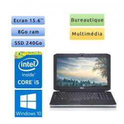 Dell Latitude E5530 - Windows 10 - i5 8Go 240Go SSD - 15.6 - Ordinateur Portable PC