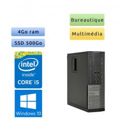 Dell Optiplex 9010 SFF - Windows 10 - i5 4Go 500Go SSD - Ordinateur Tour Bureautique PC