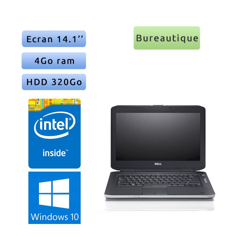 Dell Latitude E5430 - Windows 10 - B840 4Go 320Go - 14.1 - Webcam - Grade B - Ordinateur Portable PC