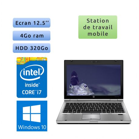 Hp EliteBook 2560p - Windows 10 - i7 4GB 320GB - 12.5 - Station de Travail Mobile PC Ordinateur