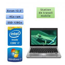 Hp EliteBook 2560p - Windows 7 - i7 4GB 120GB SSD - 12.5 - Station de Travail Mobile PC Ordinateur