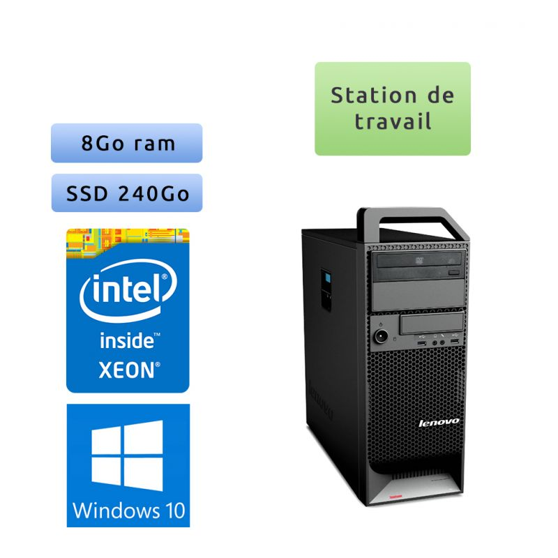 Lenovo ThinkStation S20 TW - Windows 10 - W3505 8GB 240GB SSD - Ordinateur Tour Workstation PC