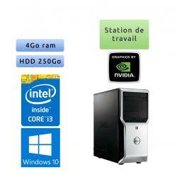 Dell Precision T1500 - Windows 10 - i3 4GB 250GB - Ordinateur Tour Workstation PC