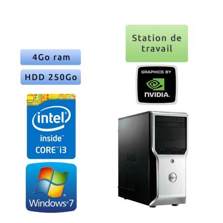 Dell Precision T1500 - Windows 7 - i3 4GB 250GB - Ordinateur Tour Workstation PC