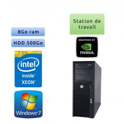 HP Workstation Z420 - Windows 7 - E5-1603 8GB 500GB - Quadro 2000 - Ordinateur Tour Workstation PC