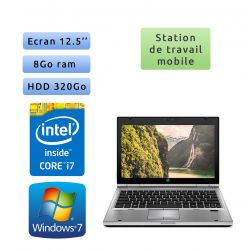 Hp EliteBook 2560p - Windows 7 - i7 8GB 320GB - 12.5 - Station de Travail Mobile PC Ordinateur
