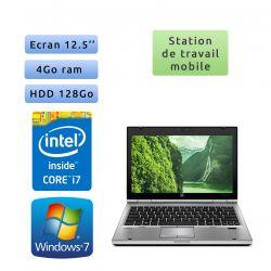 Hp EliteBook 2560p - Windows 7 - i7 4GB 128GB - 12.5 - Station de Travail Mobile PC Ordinateur