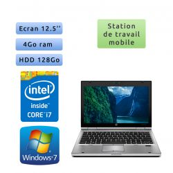 Hp EliteBook 2560p - Windows 7 - i7 4GB 128GB - 12.5 - Station de Travail Mobile PC Ordinateur