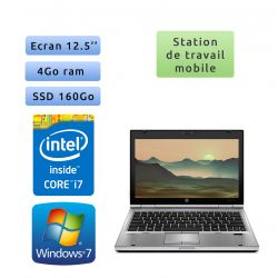 Hp EliteBook 2560p - Windows 7 - i7 4GB 160GB SSD - 12.5 - Station de Travail Mobile PC Ordinateur