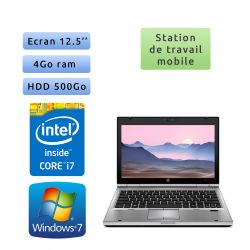 Hp EliteBook 2560p - Windows 7 - i7 4GB 500GB - 12.5 - Station de Travail Mobile PC Ordinateur
