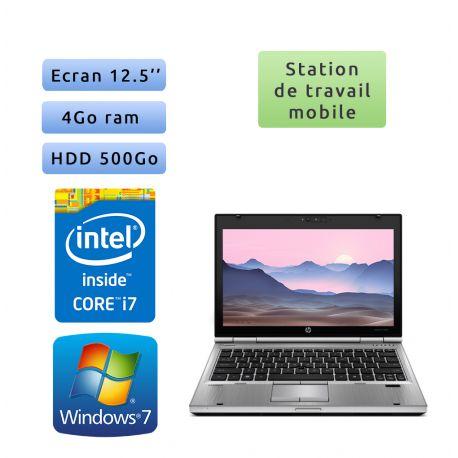 Hp EliteBook 2560p - Windows 7 - i7 4GB 500GB - 12.5 - Station de Travail Mobile PC Ordinateur