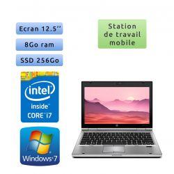 Hp EliteBook 2560p - Windows 7 - i7 8GB 256GB SSD - 12.5 - Station de Travail Mobile PC Ordinateur