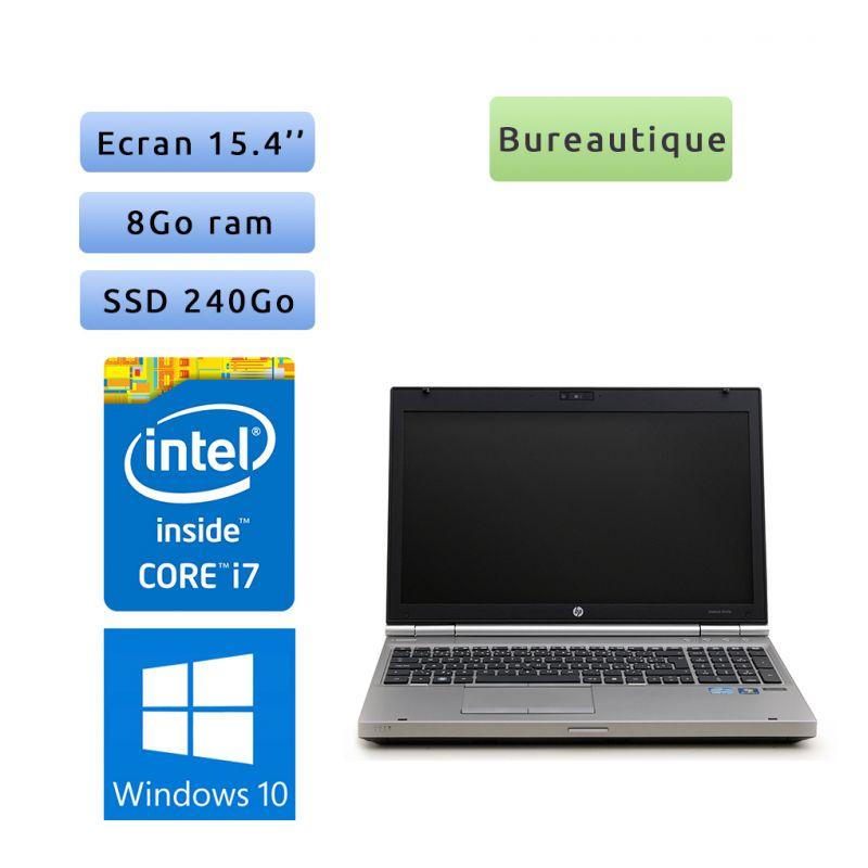 HP EliteBook 8560p - Windows 10 - i7 8Go 240Go SSD - 15.4 - Webcam - Station de Travail Mobile PC Ordinateur