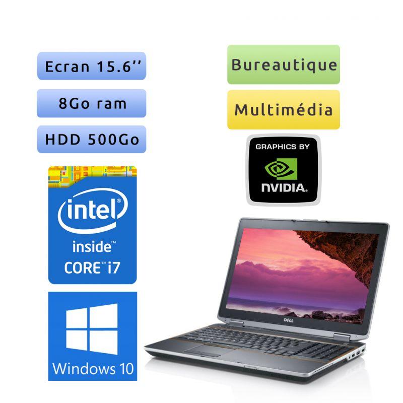 Dell Latitude E6520 - Windows 10 - i7 8Go 500Go - 15.6 - Webcam - NVS 4200M - Ordinateur portable