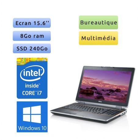 Dell Latitude E6520 - Windows 10 - i7 8Go 240Go SSD - 15.6 - Ordinateur Portable