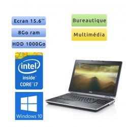 Dell Latitude E6520 - Windows 10 - i7 8Go 1To - 15.6 - Ordinateur Portable