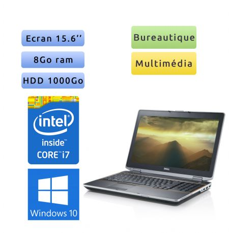 Dell Latitude E6520 - Windows 10 - i7 8Go 1To - 15.6 - Ordinateur Portable