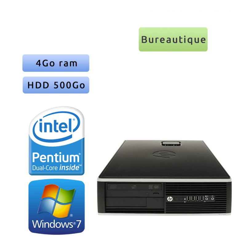 Hp 8200 Elite SFF - Windows 7 - G630 4GB 500GB - Port Serie - PC Tour Bureautique Ordinateur