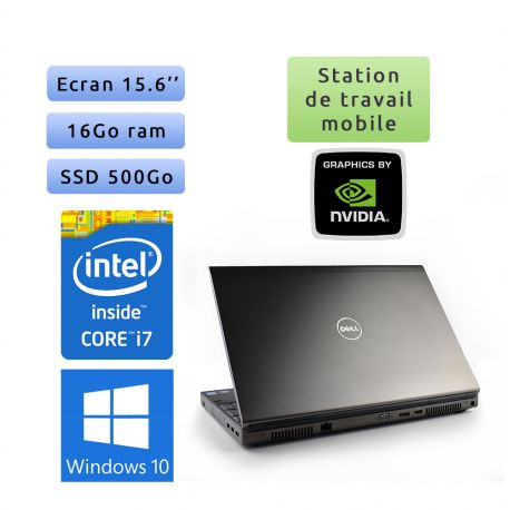 Dell Precision M4800 - Windows 10 - i7 16Go 500Go SSD - 15.6 - K2100M - Grade B - Station de travail Mobile Pc