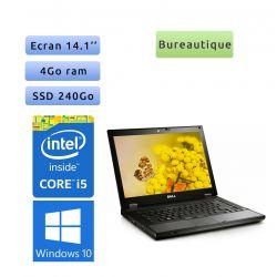Dell Latitude E5410 - Windows 10 - i5 4Go 240Go SSD - 14.1 - Ordinateur Portable PC