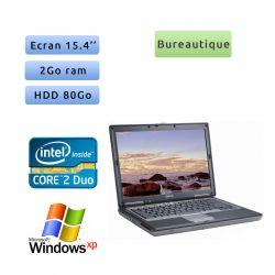 Dell Latitude D830 - Windows XP - C2D 2Ghz 2Go 80Go - 15.4 - Port Serie - Ordinateur portable PC