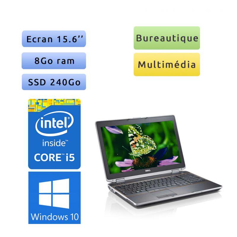 Dell Latitude E6520 - Windows 10 - i5 8Go 240Go SSD - 15.6 - Ordinateur Portable PC