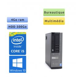 Dell Optiplex 9020 SFF - Windows 10 - i5 4Go 500Go - Port Serie - Ordinateur Tour Bureautique PC