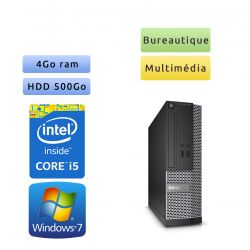 Dell Optiplex 3020 SFF - Windows 7 - i5 4Go 500Go - Ordinateur Tour Bureautique PC