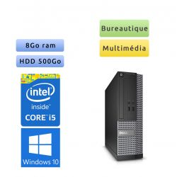 Dell Optiplex 3020 SFF - Windows 10 - i5 8Go 500Go - Ordinateur Tour Bureautique PC